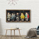 wooden frame lovely lighting motorbike canvas prints with led lights