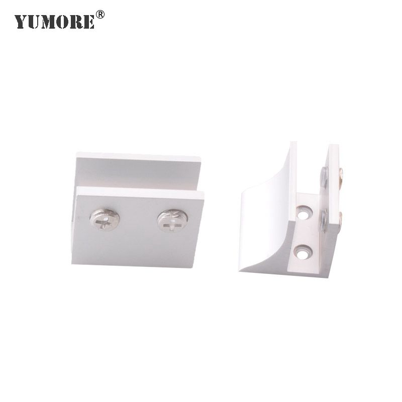 Different model corner electrical clip fixing fittings bathroom glass shelf clamp metal glass connector