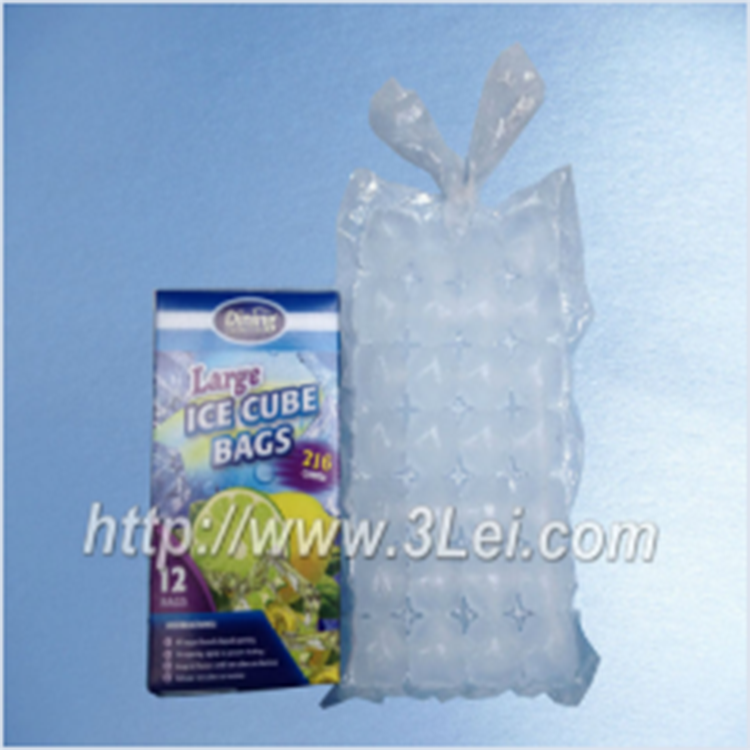 Transparent Disposable LDPE Selfsealing Ice Cube Packaging Bag