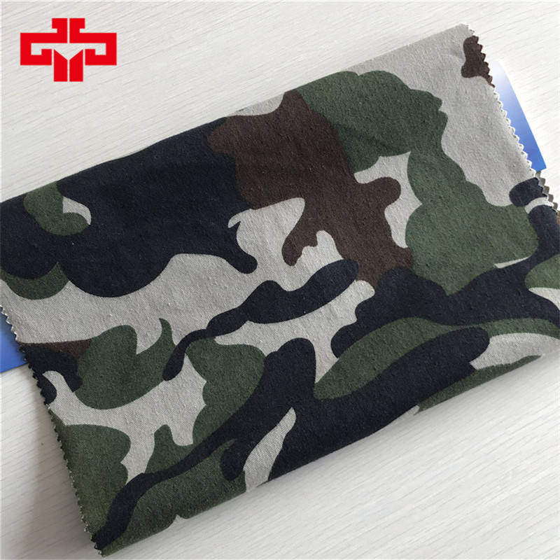 Cotton/polyester fabric cvc 80/20 camouflage fabric for military uniform