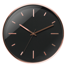 modern design clock  round shape  3D numerals dial  and rose gold hands wall clock for home decor