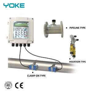 digital control ultrasonic principle clamp-on type water flow meter