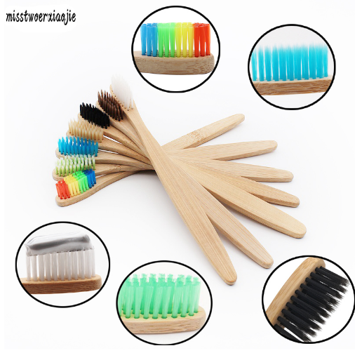 Environmental Bamboo Charcoal Health Toothbrush For Oral Care Teeth Cleaning Eco Medium Soft Bristle Brushes oem