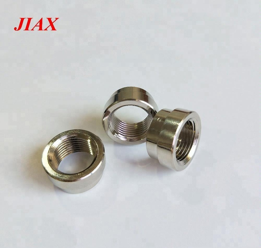 High quality steel nuts bolts hollow nickle plated M18 mounting boss betel nut