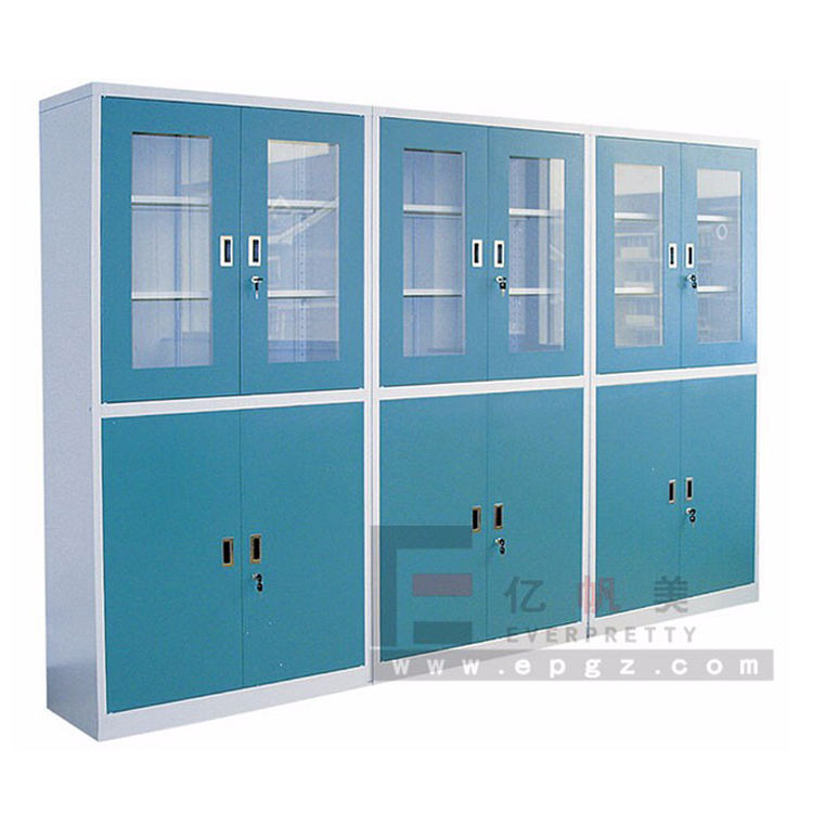Cold rolling steel laboratory cabinet/glass door lab storage cabinets/metal lab safty cabinet