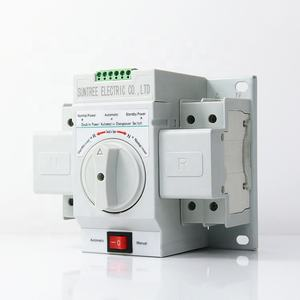 Single Phase ATS Automatic Transfer Switch Manual Changeover Switch 63A 2P 4P ATS Generator Controller