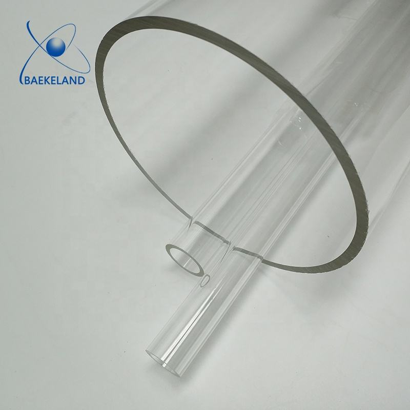 Custom Large Diameter Clear Plastic Acrylic Tube / PC Pipes 400mm 500mm 600mm 700mm 800mm 1000mm