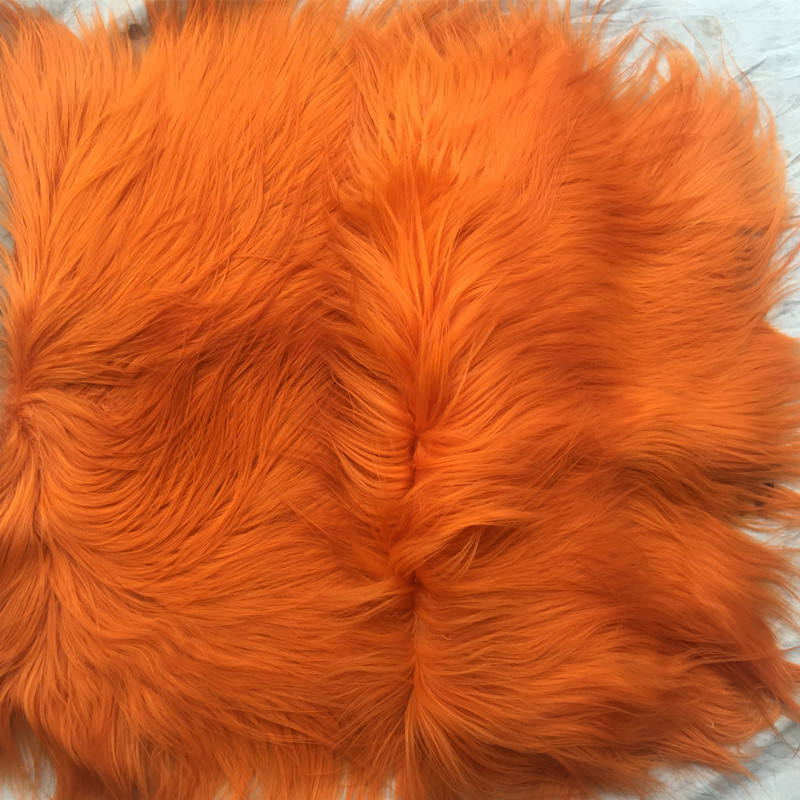 Wholesale 100% Genuine goat fur rug 60*120cm long hair goat skin