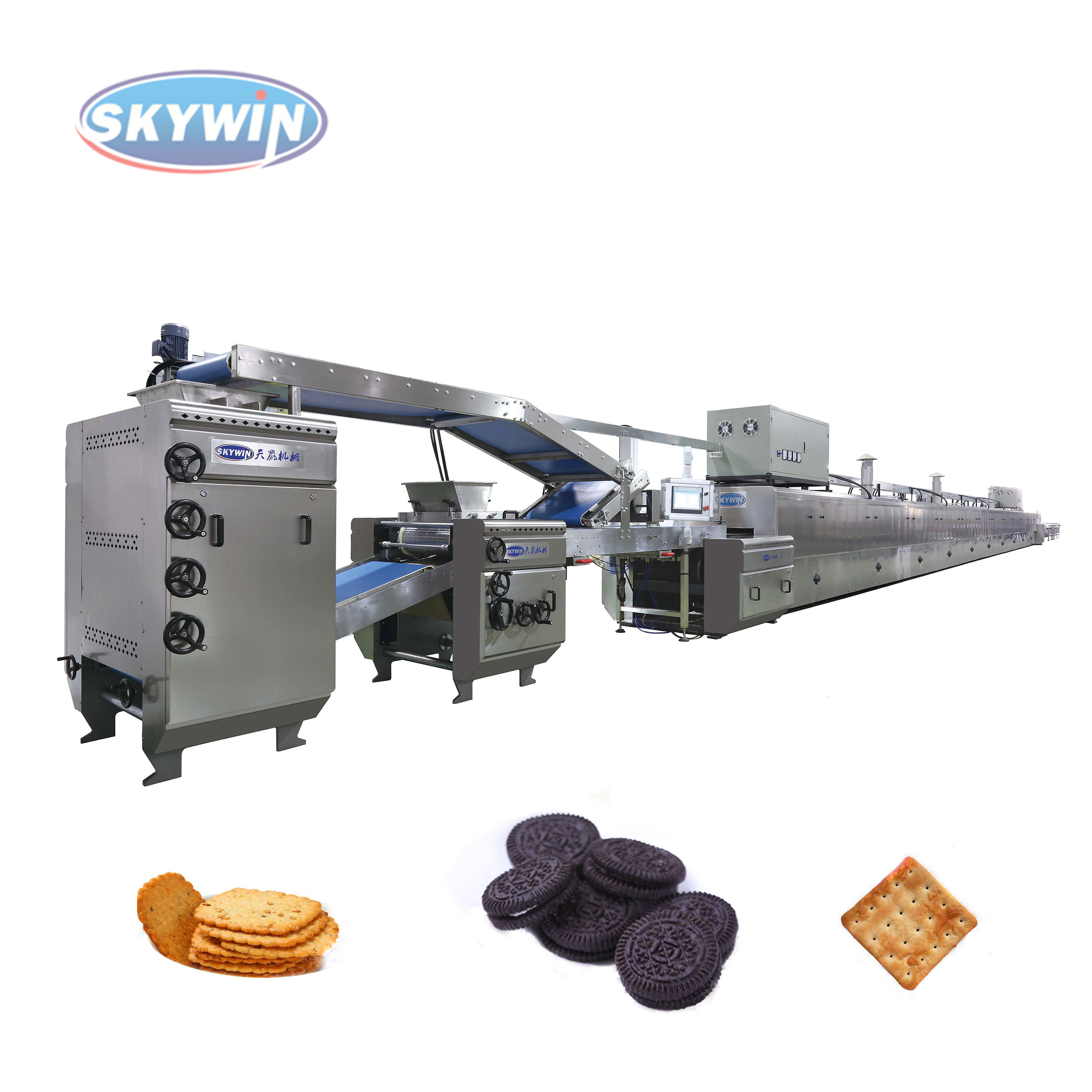 Automatic industrial biscuit production line/Widely used cookies biscuit machine