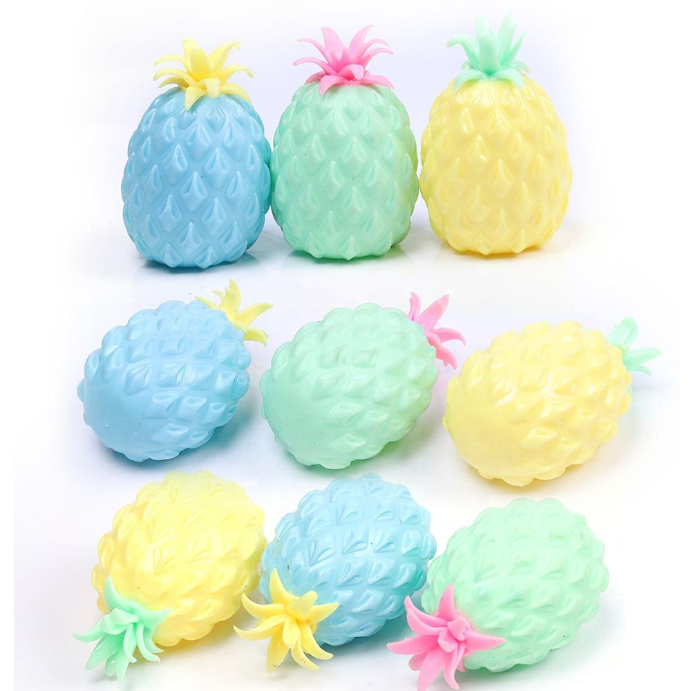Anti stress TPR ball and soft beads ball for kids pineapple and watermelon