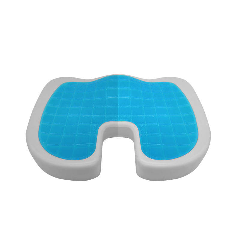 Hot sale Coccyx Orthopedic Long Sitting Gel seat cushion for Sciatica