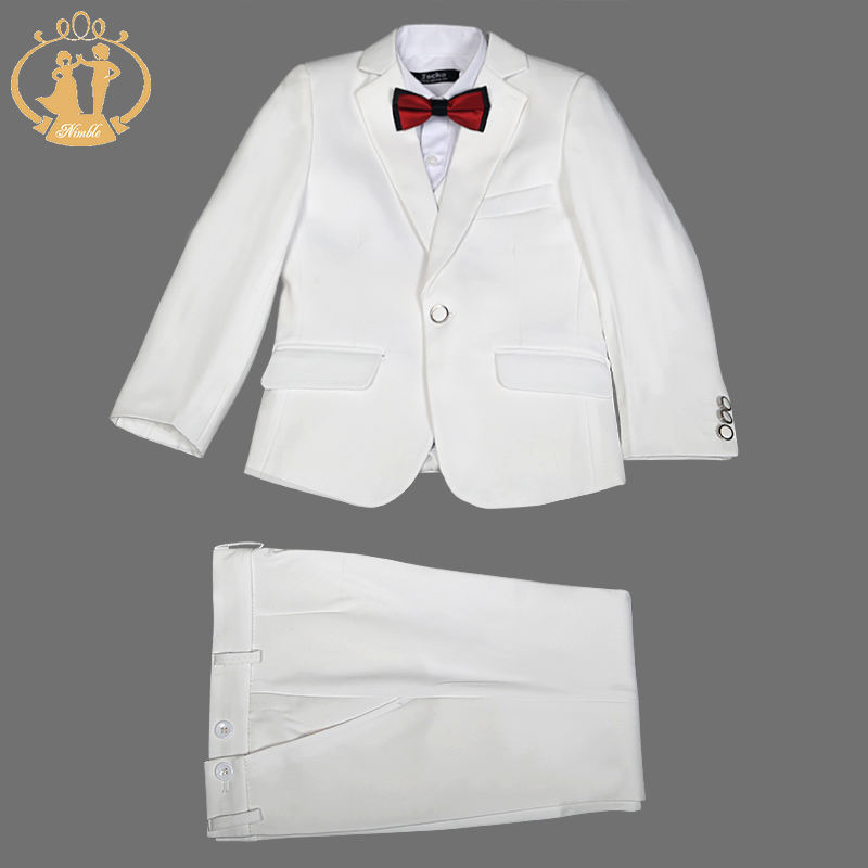 Nimble Children Boutique Fashion Factory Direct Sell Baby Boys Christening Custom Made Tuxedo Suit
