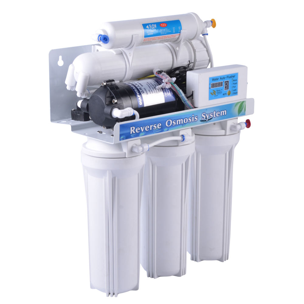 5 stage home use RO water filter purifier reverse osmosis system plant with clear housing