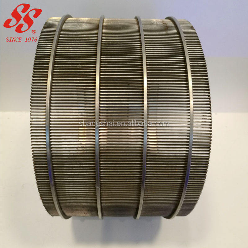 304 316L micron stainless steel wedge wire screen filter mesh/Johnson screen