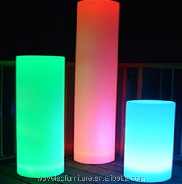 Hot selling wedding pillars color changing led pillar light for sale