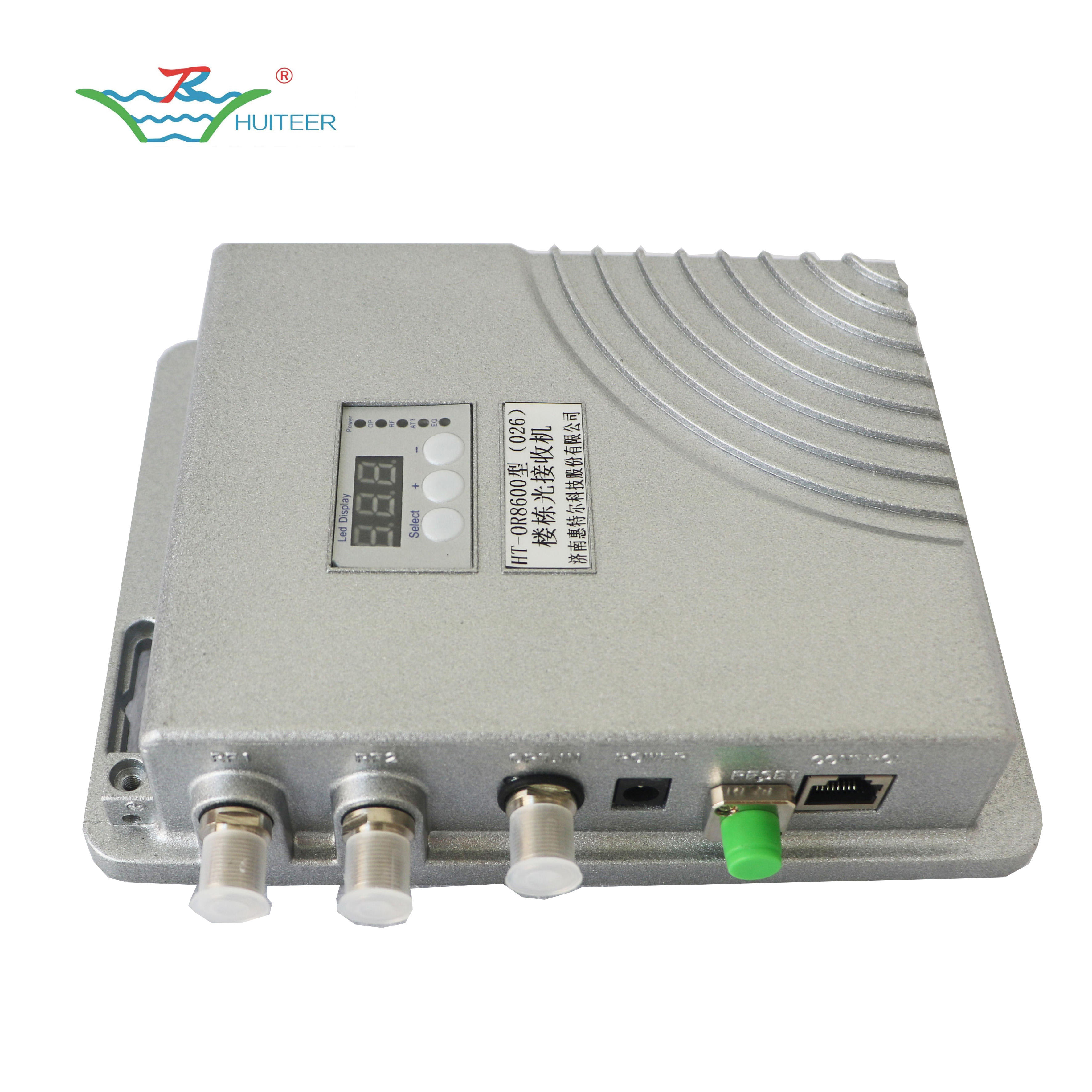 New style AGC FTTB CATV Optical Receiver with snmp and numerical control
