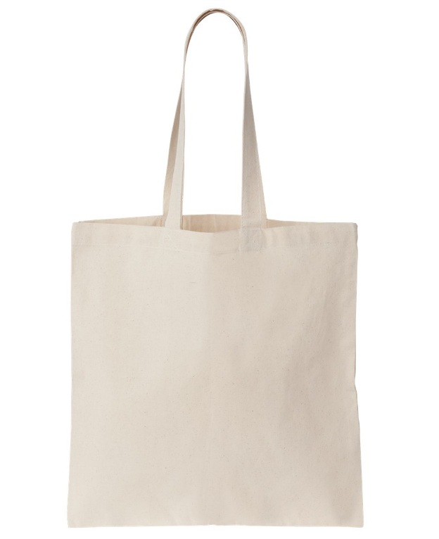 Tinta unita in cotone canvas tote shopping bag