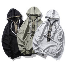 Wholesale Color Block HIgh Quality Cotton Camo Printed Private Label Hoodies for Men