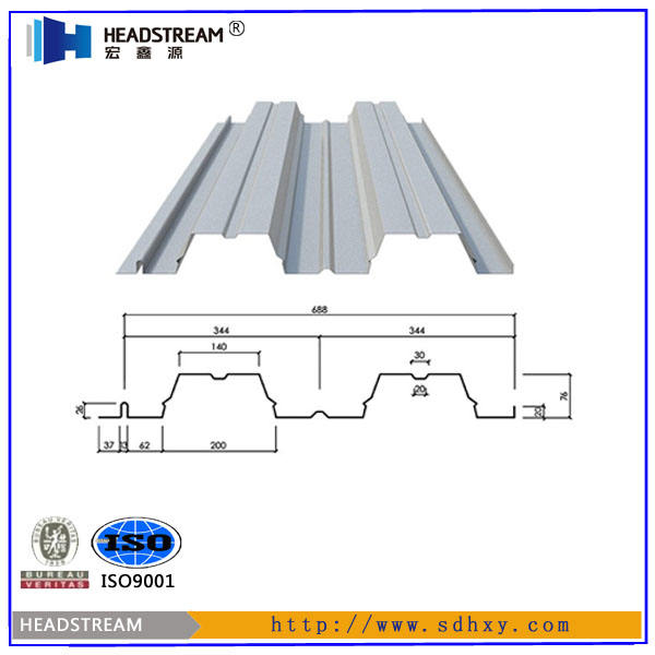 YX76-344-688 Galvanized Corrugated Metal Floor Decking Steel Sheet/carbon Steel Building Materials