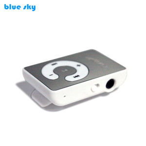 1-16GB Support SD TF Portable Mini Clip Metal USB MP3 Music Media Player, Metal MP3 Player