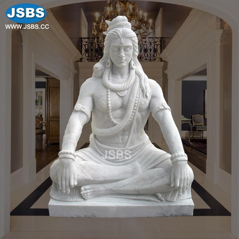 Cheap Indian White Marble Shiva God Sculpture