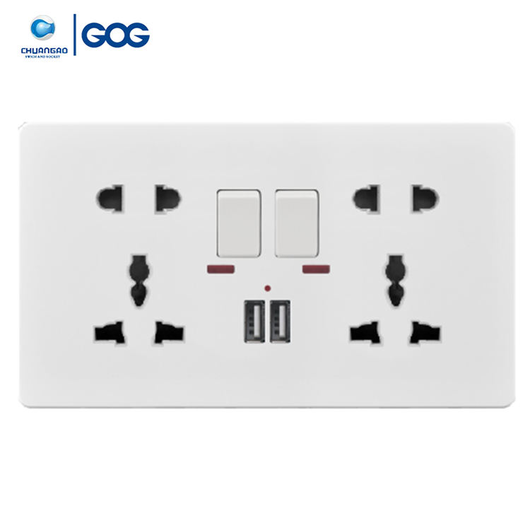 Wall Switched Socket USB Switched Socket