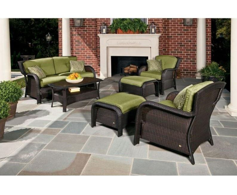 Resin Anyaman Digunakan Patio Taman Outdoor Sofa Set Berkapasitas Klub Kursi Furniture