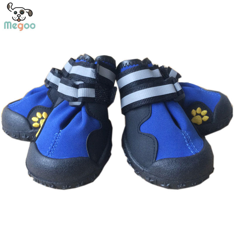 Fashion Paw Print Dog Shoes Waterproof Labrador Husky Antiskid Shoes For Large Breed Dog