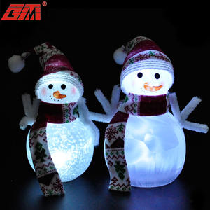 Universal cheap bulk glass snowman decorations xmas christmas gifts