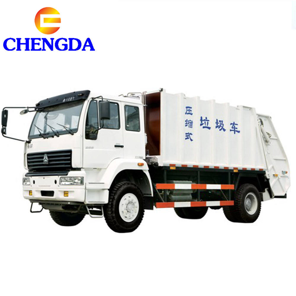 Howo 6x4 12cm3 14cm3 Compactor Trash Can Garbage Truck