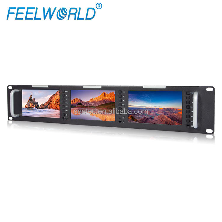 1080 P HD Video 800x480 Full HD LCD Ba Rack Gắn 5 inch SDI Màn Hình
