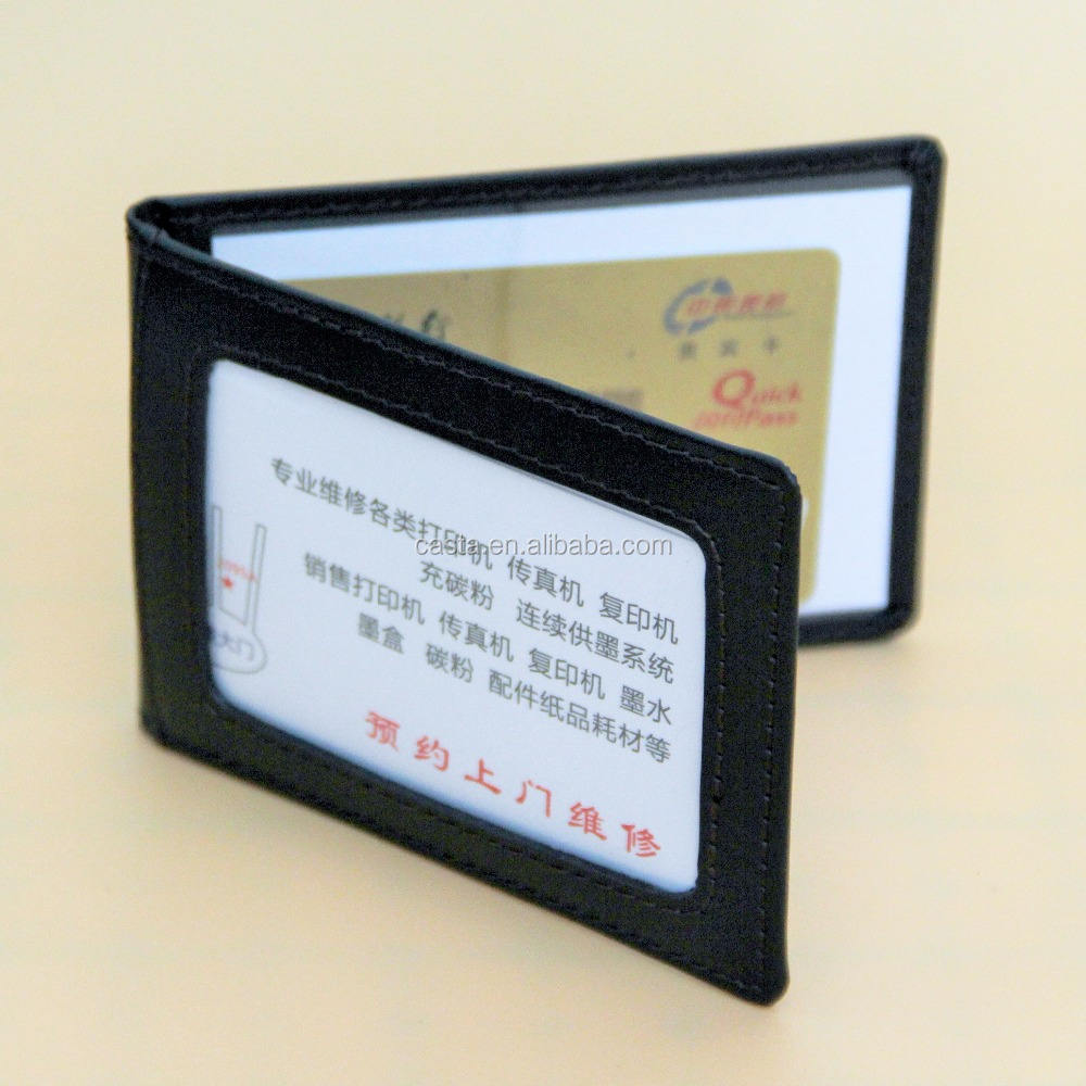 Factory direct sale Simple Business affairs Genuine leather Card package Pass case