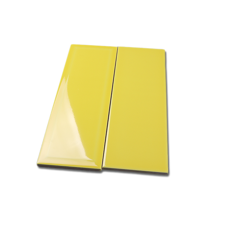 4inx12in/4inx8in yellow glossy bathroom floor tile ceramic peel stick tile subway tile