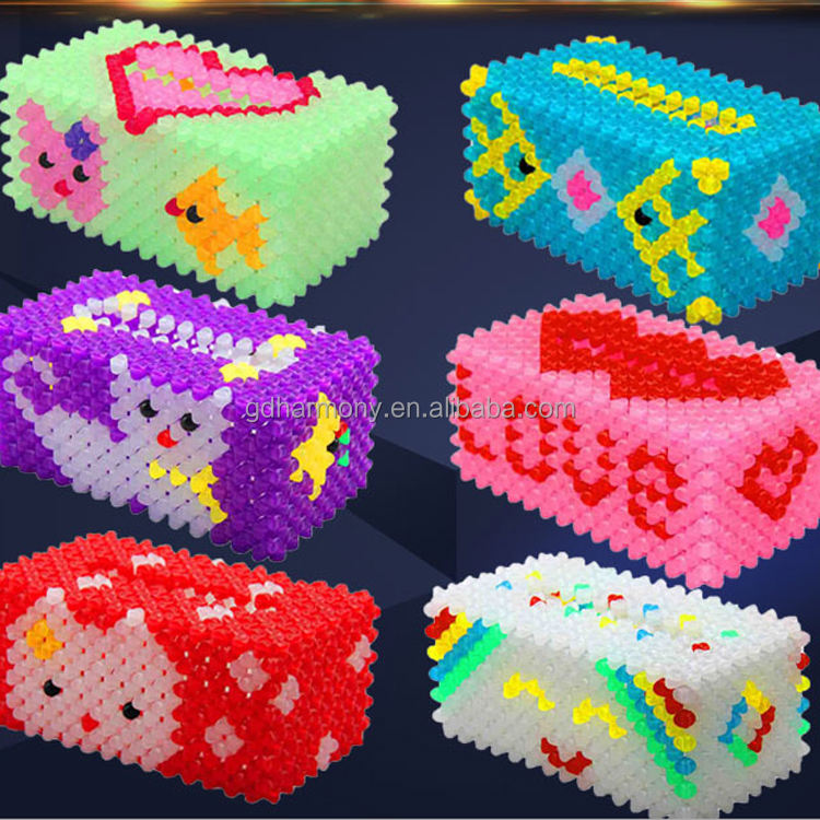 High quality DIY acrylic bead tissue box material acrytic crytal beads tissue paper box