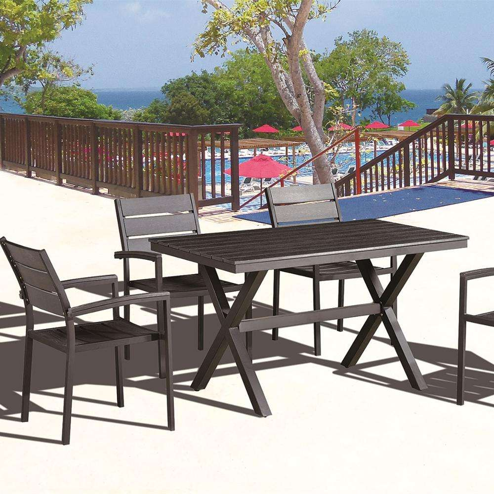 folding banquet modern style patio imported new arrival popular high quality bistro 5pcs black outdoor garden dining table set