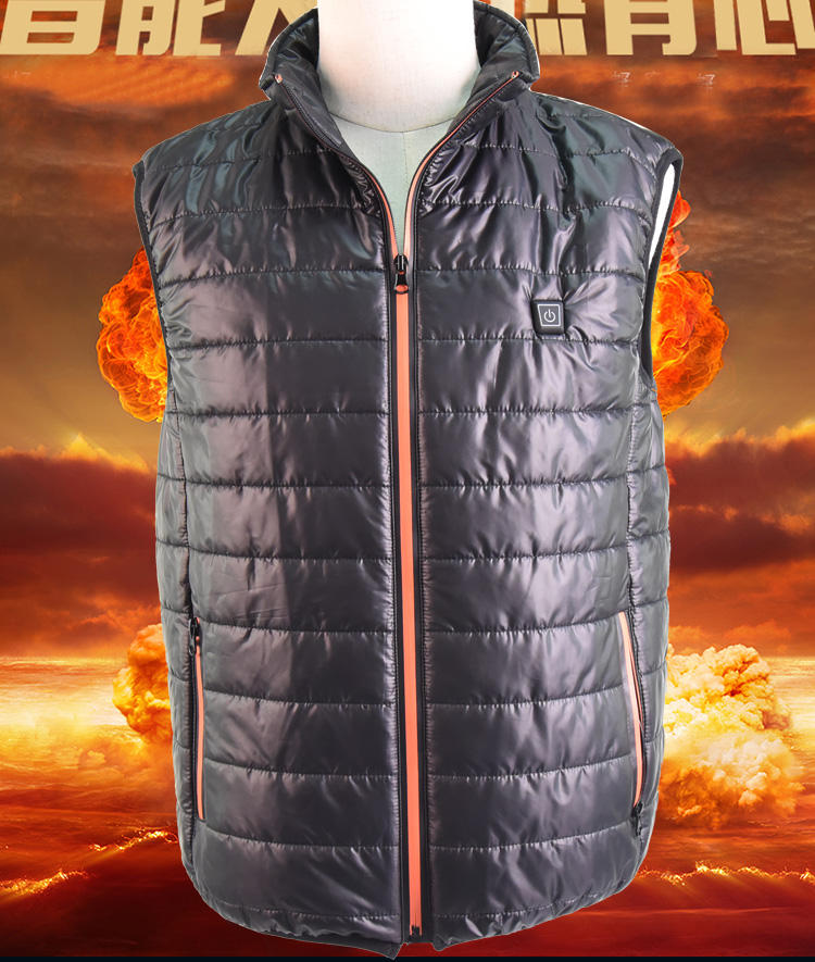 Safe Electronic Heated Winter Down Jacket For Body Warmer Thermal Underwear Sport Heated Machine