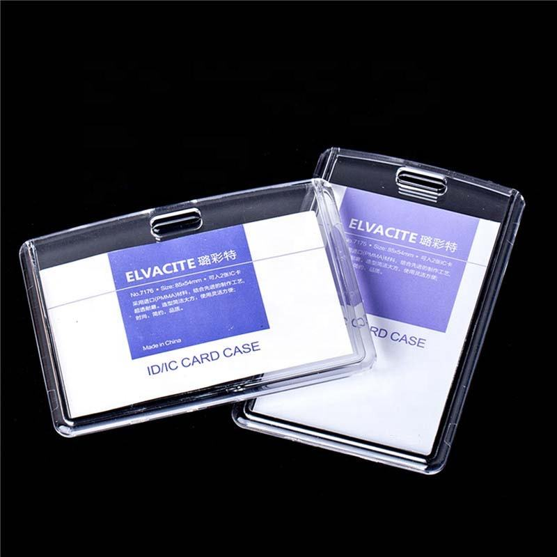 Quality Advanced Acrylic Card holder PVC Transparent Exhibition id badge holder