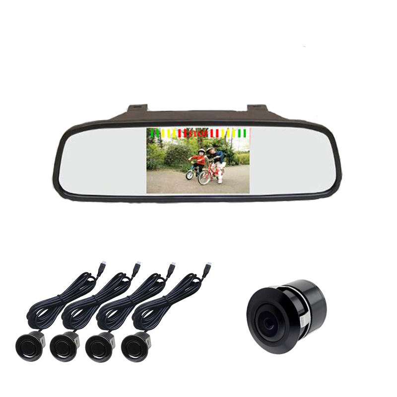 Hot Selling 4 Rear Sensors Rearview Mirror LED Car Parking Sensor with Bibi Sound alarm