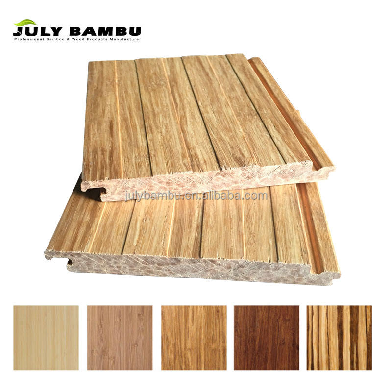 High Quality Engineered Natural Color Strand Woven Bamboo Flooring