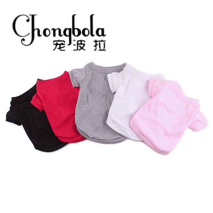 Yiwu Pet Supplies Custom Classics Design Plain Pet Dog TShirts With Sleeves
