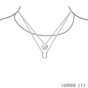 2015 New Arrivals Yiwu Costume Jewleries For Women Silver Lucky Four Leaf Clover Horseshoe Necklace