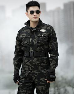 Hot sale cp tiger stripe camouflage black military uniform