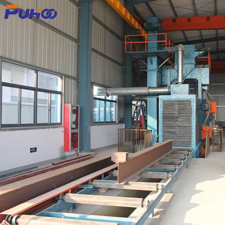 "Automatic Shot Blasting Machine ""Automatic Surface Cleaning Equipment Roller Conveyor Shot Blasting Machine """