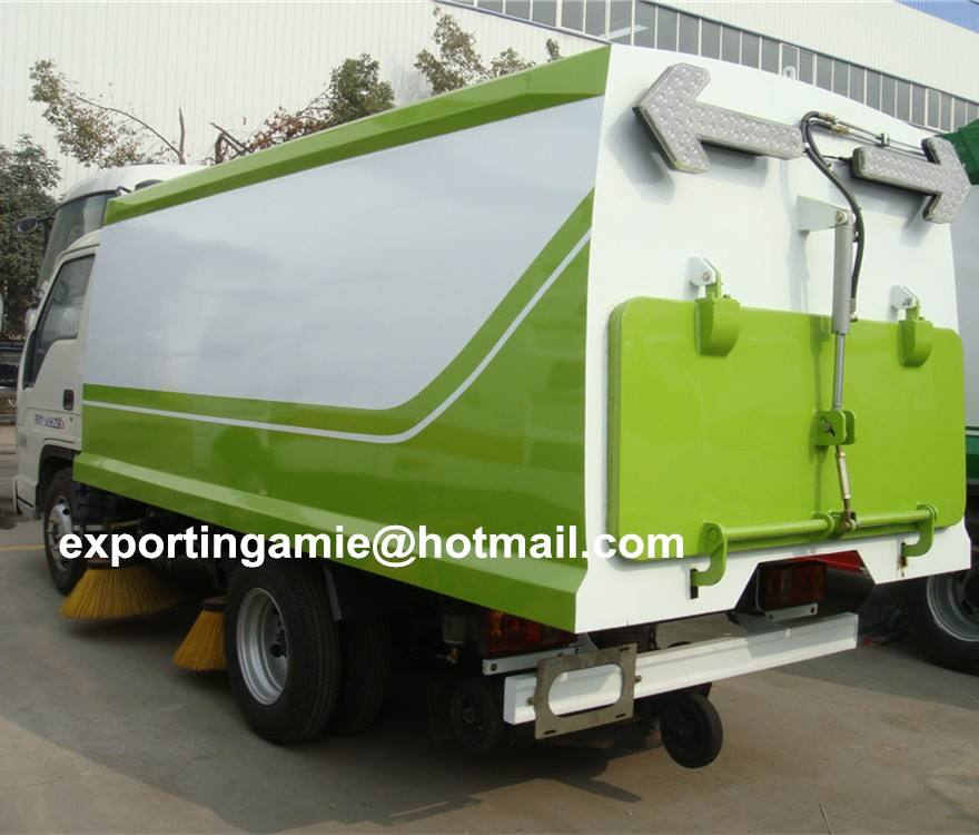 automatic 4 brushes forland diesel 4x2 small street sweeper truck for sale