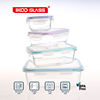 rectangle glass food storage containers 4pcs set, good helper for moms