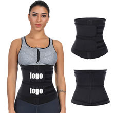 Custom Logo Private Label Double Compression Belly Control Belt Women Slimming Workout Latex Waist Trainer