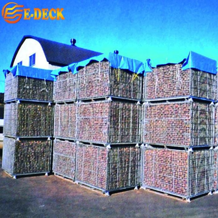 Steel Lockable Storage Cage Good Quality Industrial Stackable Durable Welded Hot Dip Zinc Wire Mesh with Wheels
