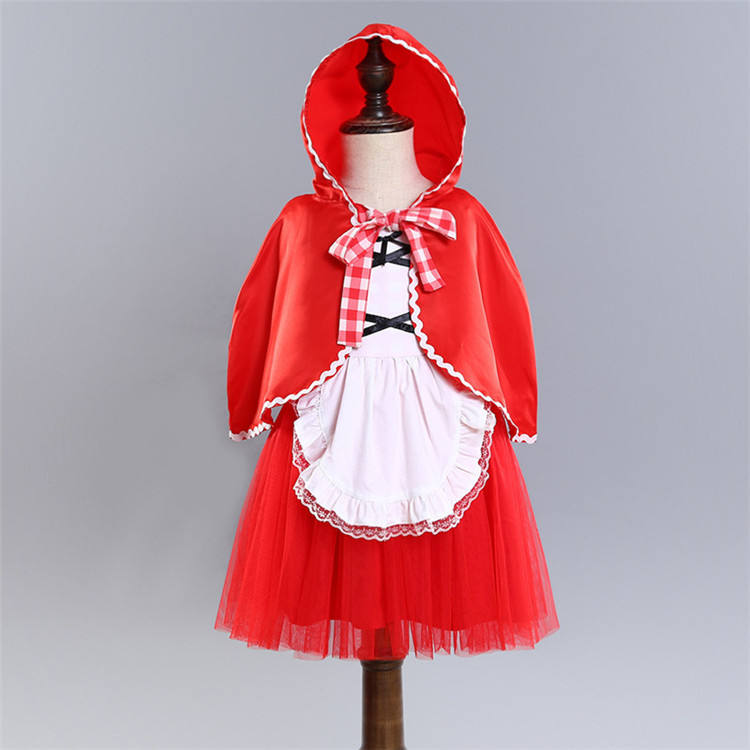 Christmas Costume Party Girl Dress little red riding hood costume