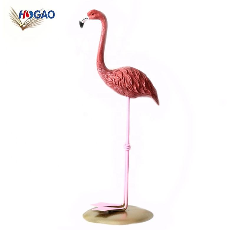 Creative resin crafts household girl living room bedroom china import items deco pink flamingo home decor for office home