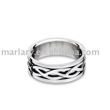 Cheap Stainless Steel Mens Symbol Celtic Interwoven Love Finger Knot Tat Ring